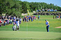 Brandon Grace (RSA) chips on to 16 during round 4 of the Valero Texas Open, AT&amp;T Oaks Course, TPC San Antonio, San Antonio, Texas, USA. 4/23/2017.<br /> Picture: Golffile | Ken Murray<br /> <br /> <br /> All photo usage must carry mandatory copyright credit (&copy; Golffile | Ken Murray)