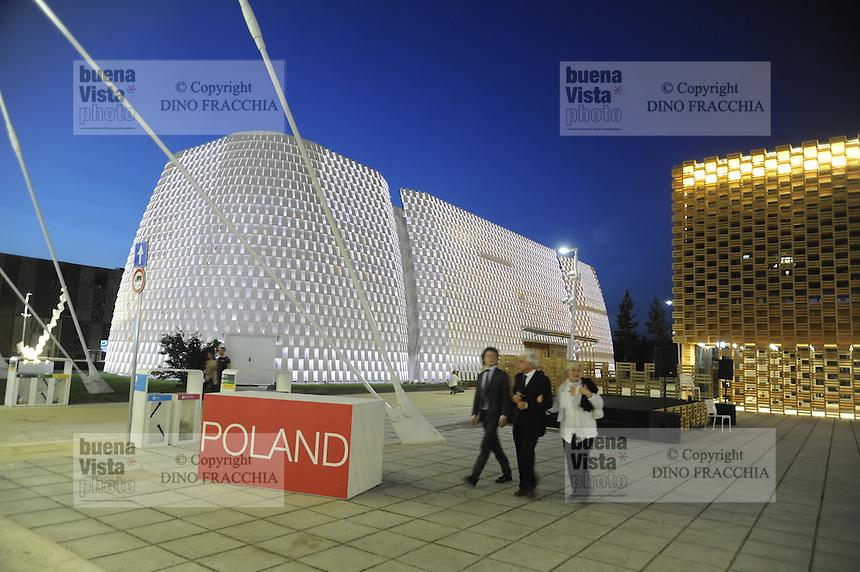 - Milano, Esposizione Mondiale Expo 2015, padiglioni banca Intesa SanPaolo e Polonia<br /> <br /> - Milan, the World Exhibition Expo 2015, pavillions of Intesa SanPaolo bank and Poland