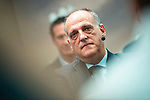Javier Tebas during the presentation of the strategic alliance between Movistar and Laliga<br /> October 4, 2019. <br /> (ALTERPHOTOS/David Jar)