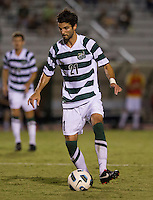 Number 8 ranked Charlotte beats number 16 ranked Coastal Carolina 1-0 on a goal by Thomas Allen in the 101st minute during the second overtime.  Anthony Perez (21)