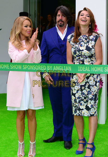 LONDON, UK, MAR 20th: Katie Piper, Laurence Llewelyn-Bowen, Suzi Perry; The Ideal Home Show photocall to launch the 106th Ideal Home Show, Earl's Court, London, England, March 20th, 2015.<br /> CAP/JOR<br /> &copy;Nils Jorgensen/Capital Pictures
