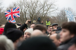 "© Joel Goodman - 07973 332324. 18/03/2018 . London , UK . A policeman videos the crowd at Speakers Corner . 1000s including supporters of alt-right groups such as Generation Identity and the Football Lads Alliance , at Speakers' Corner in Hyde Park where Tommy Robinson reads a speech by Generation Identity campaigner Martin Sellner . Along with Brittany Pettibone , Sellner was due to deliver the speech last week but the pair were arrested and detained by police when they arrived in the UK , forcing them to cancel an appearance at a UKIP "" Young Independence "" youth event , which in turn was reportedly cancelled amid security concerns . Photo credit : Joel Goodman"