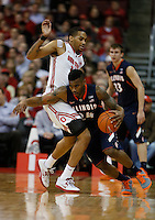 Ohio State Buckeyes forward LaQuinton Ross (10)  goes up against Illinois Fighting Illini guard Rayvonte Rice (24) in the first half at Value City Arena in Columbus Jan. 23, 2013 (Dispatch photo by Eric Albrecht)