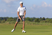 Tyrone Clarke (Royal Portrush) on the 1st green during Round 2 of the East of Ireland Amateur Open Championship 2018 at Co. Louth Golf Club, Baltray, Co. Louth on Sunday 3rd June 2018.<br /> Picture:  Thos Caffrey / Golffile<br /> <br /> All photo usage must carry mandatory copyright credit (&copy; Golffile | Thos Caffrey)