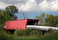 Roseman Bridge (built in 1883), Madison County, Iowa (graffiti has been digitally removed)