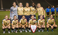 US WNT starting eleven. The US Women defeated China 1-0 at Home Depot Center stadium in Carson, California on Saturday December 13, 2008. Photo by Michael Janosz