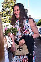 """---- NO TABLOIDS, NO WEB -- EXCLUSIF - L'épouse d'Andrea Casiraghi, Tatiana lors de la Ciné-conférence avec la projection du film """"L'invention de Monte Carlo"""", 150 ans d'histoire en images, proposée par les Archives audiovisuelles de Monaco et les Archives du Palais Princier de Monaco, le 22 juin 2016 à l'Opéra Garnier de Monaco. Ce film documentaire commenté en direct sur la scène de l'Opéra relate toute l'histoire de ce quartier de la Principauté : """"Monte Carlo"""" rendu célébre dès le début du XXeme siécle par son Casino puis par les nombreuses manifestations de prestiges qui y ont été organisées autant culturelles, comme les ballets ou les concerts de musique classique, ou que le Festival de Télévision, mais aussi sportives comme les départs des Rallyes de Monte Carlo. A travers ce quartier mythique de la Principauté, le spectateur est plongé dans l'histoire de Monaco et de son développement touristique et économique, de la création de la Société des Bains de Mer (SBM), au face à face entre le Prince Rainier III et Onassis, sans oublier les nombreux films tournés à Monte Carlo. # LE PRINCE ALBERT DE MONACO ET LA PRINCESSE CAROLINE A UNE CINE-CONFERENCE A L'OPERA GARNIER DE MONACO"""