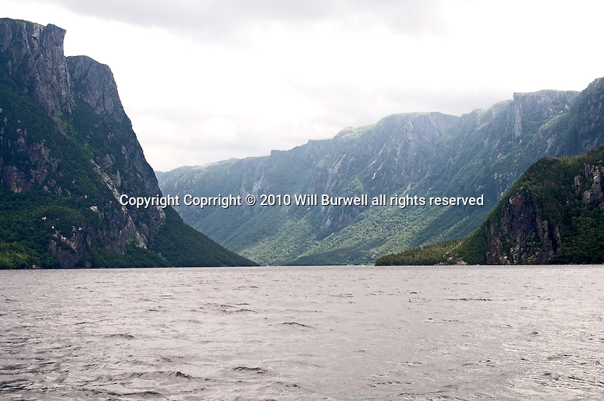 View down Western Brook Pond