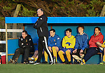 Clare manager Donie Garrihy on the sideline against Roscommon during their Oscar Traynor game in Frank Healy park, Doora. Photograph by John Kelly.