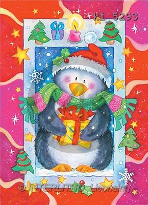 Interlitho, Nino, CHRISTMAS ANIMALS, paintings, penguin, gift(KL5293,#XA#) Weihnachten, Navidad, illustrations, pinturas