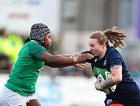 2nd February 2020; Energia Park, Dublin, Leinster, Ireland; International Womens Rugby, Six Nations, Ireland versus Scotland; Jade Konkel (Scotland) hands off a tackle from Linda Djougang (Ireland)