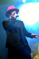Boy George and Culture Club play live at the Haydock Park Racecourse in Liverpool.<br />