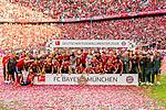 12.05.2018, Allianz Arena, Muenchen, GER, 1.FBL,  FC Bayern Muenchen vs. VfB Stuttgart, im Bild Meister FC Bayern <br /> <br />  Foto &copy; nordphoto / Straubmeier