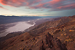 Sunset at Dante's View in Death Valley National Park, California, USA