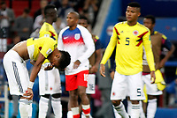 MOSCU - RUSIA, 03-07-2018: Johan MOJICA jugador de Colombia luce decepcionado después del partido de octavos de final entre Colombia y Inglaterra por la Copa Mundial de la FIFA Rusia 2018 jugado en el estadio del Spartak en Moscú, Rusia. / Johan MOJICA player of Colombia looks disappointed after the match between Colombia and England of the round of 16 for the FIFA World Cup Russia 2018 played at Spartak stadium in Moscow, Russia. Photo: VizzorImage / Julian Medina / Cont