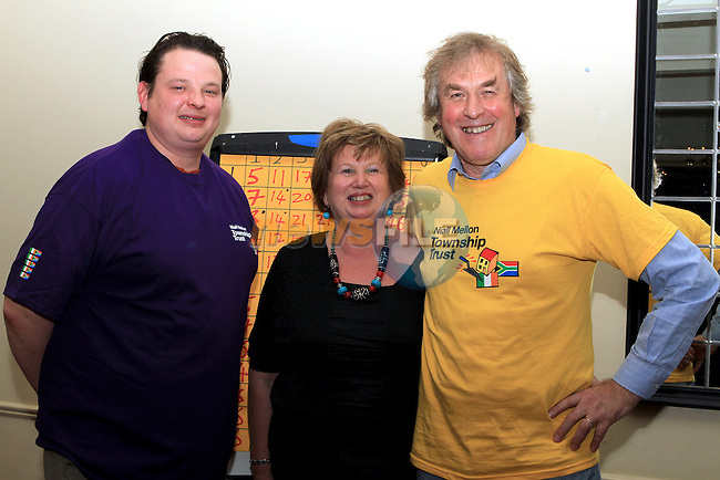 Guy, Debbie and Christopher O'Brien Lynch at the Table Quiz in the Boyne Valley Hotel in aid of the Niall Mellon Township Trust..(Photo credit should read Jenny Matthews www.newsfile.ie)....This Picture has been sent you under the conditions enclosed by:.Newsfile Ltd..The Studio,.Millmount Abbey,.Drogheda,.Co Meath..Ireland..Tel: +353(0)41-9871240.Fax: +353(0)41-9871260.GSM: +353(0)86-2500958.email: pictures@newsfile.ie.www.newsfile.ie.