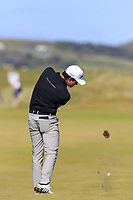 Ricardo Gouveia (POR) plays his 2nd shot on the 3rd hole during Friday's Round 2 of the 2018 Dubai Duty Free Irish Open, held at Ballyliffin Golf Club, Ireland. 6th July 2018.<br /> Picture: Eoin Clarke | Golffile<br /> <br /> <br /> All photos usage must carry mandatory copyright credit (&copy; Golffile | Eoin Clarke)