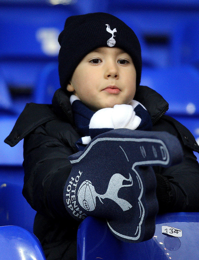 A young Tottenham Hotspur Fan..Football - Barclays Premiership - Tottenham Hotspur v Stoke City - Saturday 22nd December 2012 - White Hart Lane - London..