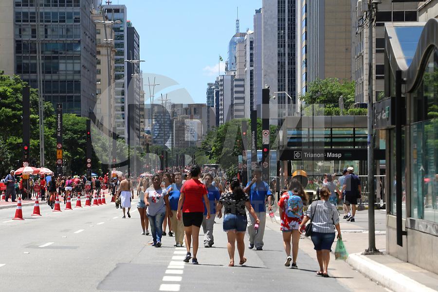 SÃO PAULO, SP, 27.01.2019: CLIMA-SP - Dia de sol e calor na região da Avenida Paulista, em São Paulo neste domingo, 27. ( Foto: Charles Sholl/Brazil Photo Press)