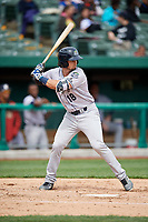 Kane County Cougars first baseman Paxton De La Garza (18) at bat during a game against the South Bend Cubs on May 3, 2017 at Four Winds Field in South Bend, Indiana.  South Bend defeated Kane County 6-2.  (Mike Janes/Four Seam Images)