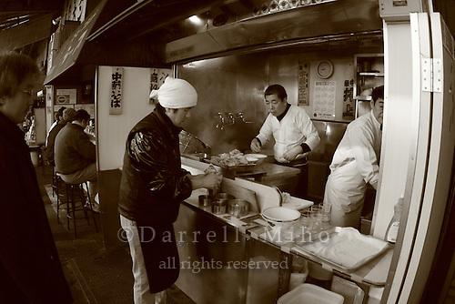 Mar 4, 2006; Tokyo, JPN; Tsukiji.Street scene in Tsukiji.  Breakfast in Tsukiji...Photo credit: Darrell Miho