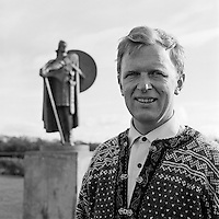 Ivar Eskeland fyrsti forst&ouml;&eth;uma&eth;ur Norr&aelig;na H&uacute;ssins, 1968<br /> <br /> Ivar Eskeland, first director of the Nordic House, 1968