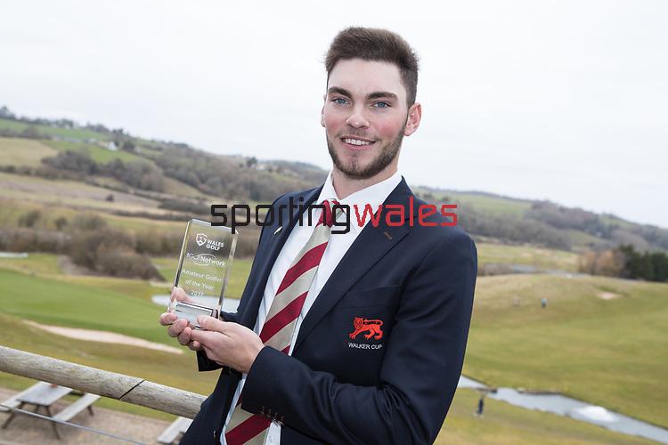 Wales Golf Awards 2017<br /> Jack Davidson, Amateur Golfer of the Year.<br /> Celtic Manor Resort<br /> 23.03.18<br /> Steve Pope &copy;Sportingwales
