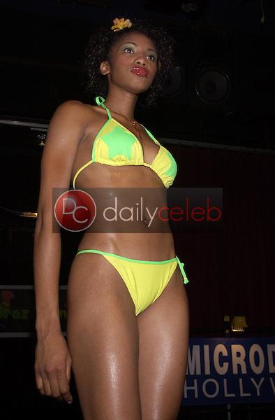 Model wearing the Braziliana swimwear collection