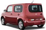 Rear three quarter view of a 2009 Nissan Cube SL