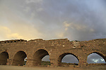 Israel, the Roman Upper Aqueduct In Caesarea