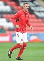 Fleetwood Town's Peter Clarke during the pre-match warm-up <br /> <br /> Photographer Kevin Barnes/CameraSport<br /> <br /> The EFL Sky Bet Championship - Fleetwood Town v AFC Wimbledon - Saturday 10th August 2019 - Highbury Stadium - Fleetwood<br /> <br /> World Copyright © 2019 CameraSport. All rights reserved. 43 Linden Ave. Countesthorpe. Leicester. England. LE8 5PG - Tel: +44 (0) 116 277 4147 - admin@camerasport.com - www.camerasport.com