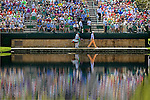 AUGUSTA, GA: APRIL 10 - Bill Haas of the United States walks to the first green during the first round of the 2014 Masters held in Augusta, GA at Augusta National Golf Club on Thursday, April 10, 2014.. (Photo by Donald Miralle)