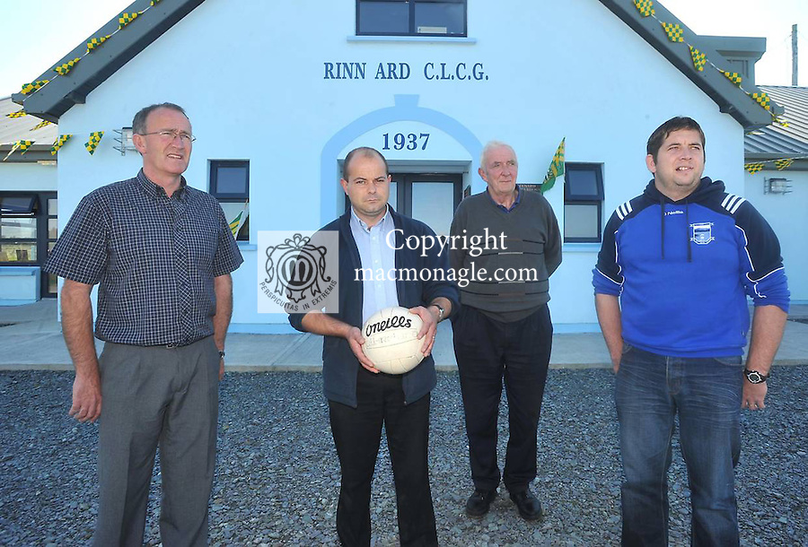 Reenard GAA Club officers pictured at their club grounds. From left are   Jimmy O'Sullivan, Will Galvin, John Sugrue senior and Declan O'Neill  Picture: Eamonn Keogh (MacMonagle, Killarney)