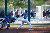 James Starnes (12) of Oak Ridge High School in Spring, Texas during the Baseball Factory All-America Pre-Season Tournament, powered by Under Armour, on January 13, 2018 at Sloan Park Complex in Mesa, Arizona.  (Zachary Lucy/Four Seam Images)