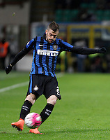 Calcio, Coppa Italia: semifinale di ritorno Inter vs Juventus. Milano, stadio San Siro, 2 marzo 2016. <br /> FC Inter&rsquo;s Davide Santon in action during the Italian Cup second leg semifinal football match between Inter and Juventus at Milan's San Siro stadium, 2 March 2016.<br /> UPDATE IMAGES PRESS/Isabella Bonotto