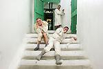 Casa di reclusione di Volterra 14 gennaio 2009 - Compagnia della fortezza - si prova lo spettacolo Marat- Sade<br />  regia Armando Punzo