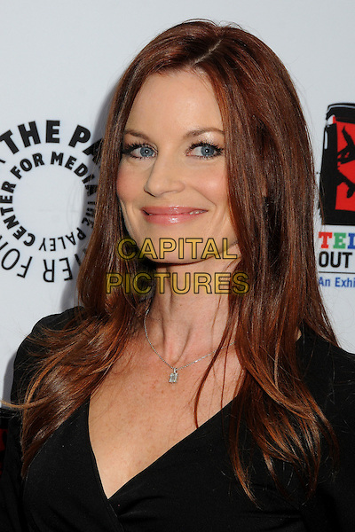"Laura Leighton.""Television: Out Of The Box"" Museum Exhibit created by Warner Bros. Television Group held at The Paley Center, Beverly Hills, California, USA..April 12th, 2012.headshot portrait black  .CAP/ADM/BP.©Byron Purvis/AdMedia/Capital Pictures."