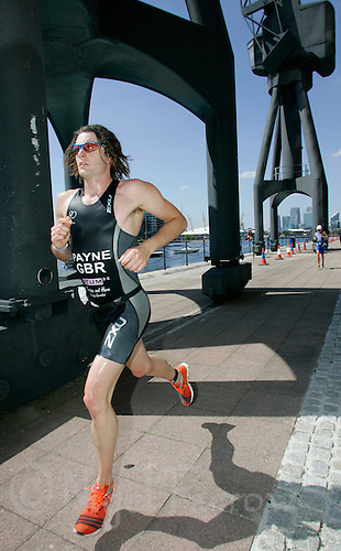 05 AUG 2007 - LONDON, UK - Clayton Payne - Triathlon. (PHOTO (C) NIGEL FARROW)