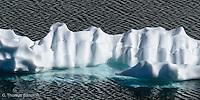 Iceberg in Frozen Lake.