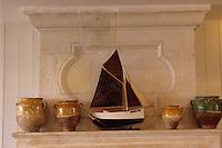 """Europe/France/Poitou-Charente/17/Charente-Maritime/Ile de Ré/Le Bois-Plage-en-Ré: Hôtel """"L'océan"""" - Détail de la décoration"""