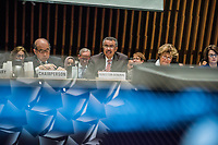 Drector-General of the WHO, Dr. Tedros Adhanom Ghebreyesus speaking at the opening session of the Executive Board Meeting of the World Health Organisation, the UN's health body, at the organisation's headquarters in Geneva. The annual event is taking place in the shadow of the Corona virus outbreak, which the WHO has declared as global health emergency.