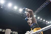 SANTOS, SP, 15.08.2015 – BOXE-SP – 0 lutador Vitor Jones Freitas enfrenta Sidney Siqueira pelo titulo brasileiro do conselho de boxe na Arena Santos, na região central de Santos, neste sábado (15). (Foto: Flavio Hopp / Brazil Photo Press)