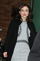 NEW YORK, NY - NOVEMBER 8: Keira Knightley at Good Morning America in New York City to discuss her new movie Anna Karenina. November 8, 2012. Credit: RW/MediaPunch Inc. .<br />