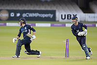 Dane Vilas of Lancashire CCC quick goves brings James Harris of Middlesex CCC innings of 117 to an end during Middlesex vs Lancashire, Royal London One-Day Cup Cricket at Lord's Cricket Ground on 10th May 2019