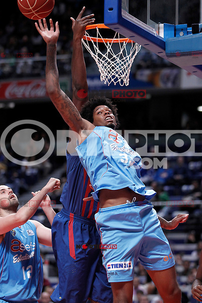 Asefa Estudiantes' Lucas Riva Nogueira during Liga Endesa ACB match.January 13,2012. (ALTERPHOTOS/Acero)