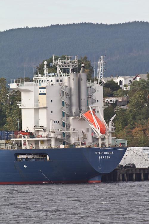 Vancouver Island, Port Alberni, Alberni Inlet, cargo ships loading forest products, British Columbia, Canada,