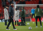 Jurgen Klopp manager of Liverpool smiles during the warmup before the UEFA Champions League match at Anfield, Liverpool. Picture date: 27th November 2019. Picture credit should read: Andrew Yates/Sportimage