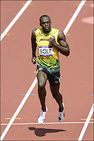 04.08.2012. London, England.  Usain Bolt Jam 100 m heat qualifications.  London 2012 Olympic Games