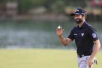 Adam Hadwin (CAN) on the 18th green during the 2nd round of the WGC HSBC Champions, Sheshan Golf Club, Shanghai, China. 01/11/2019.<br /> Picture Fran Caffrey / Golffile.ie<br /> <br /> All photo usage must carry mandatory copyright credit (© Golffile   Fran Caffrey)