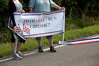 Support for Chrissie Wellington at the Challenge Roth Ironman Triathlon, Roth, Germany, 10 July 2011